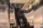 В Сочи посетители и охранники торгового центра ринулись останавливать эскалатор, на котором ребенку зажало руку.