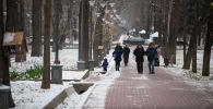 Кыш келбей жатып ак кар жамынган Бишкектин сүрөттөрү