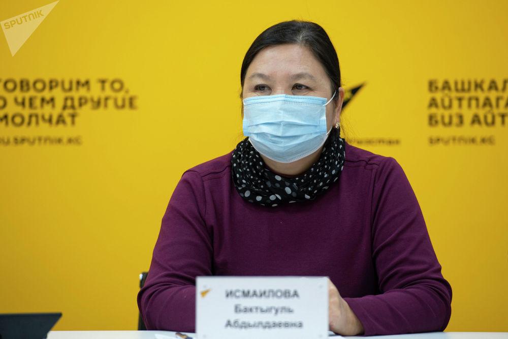 Главный специалист Управления общественного здравоохранения Минздрава Бактыгуль Исмаилова