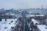 Бишкекте күз айы болгону менен кыш башталып калды. Биз борбор калаанын асмандан көрүнүшүн тартып алдык.