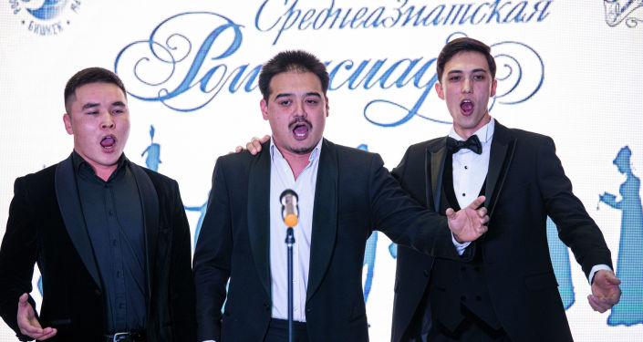 Участники IV Открытого международного конкурса исполнителей русского романса Среднеазиатская романсиада В Бишкеке. 19 ноября 2020 года