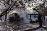 Пожар в центре Бишкека в районе площади Ала-Тоо