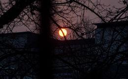 Закат солнца в Бишкеке