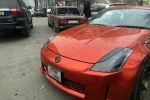 Водитель спорткара Nissan 350Z получил два штрафа за дрифт у Дома правительства в Бишкеке