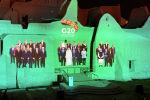 G20 саммитинин Сауд Аравияданы хан сарайлардын бириндеги проекциясы. Архивдик сүрөт