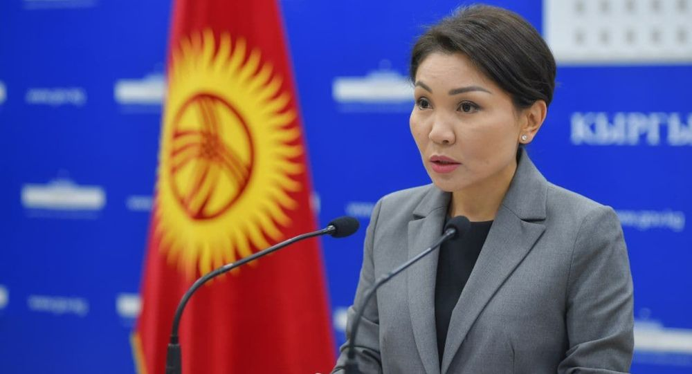 Вице-премьер Эльвира Сурабалдиева брифинг учурунда