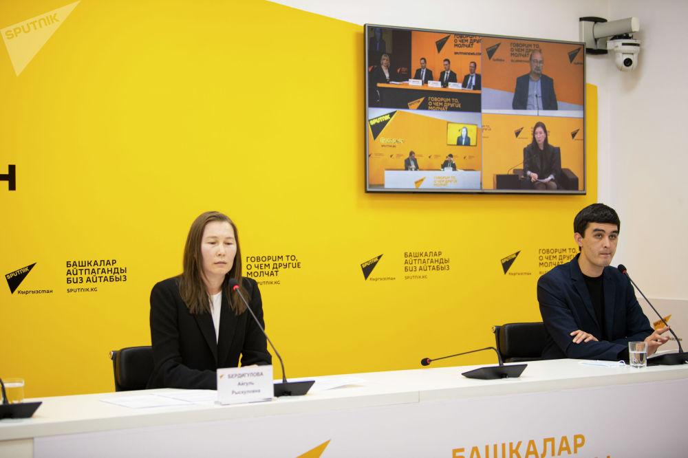 26 ноября в пресс-центре Sputnik Кыргызстан прошел видеомост Экономики стран ЕАБР в 2021 году — прогноз для Кыргызстана