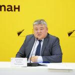 Шаршеев выступил на брифинге в пресс-центре Sputnik Кыргызстан