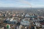 Вид с дрона на центр Бишкека. Архивное фото