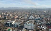 Вид с дрона на центр Бишкека.
