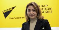 Врач-косметолог Назира Элебесова во время беседы