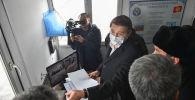 И.о. премьер-министра, первый вице-премьер-министр КР Артем Новиков посети контрольно-пропускной пункт Чалдовар. Архивное фото