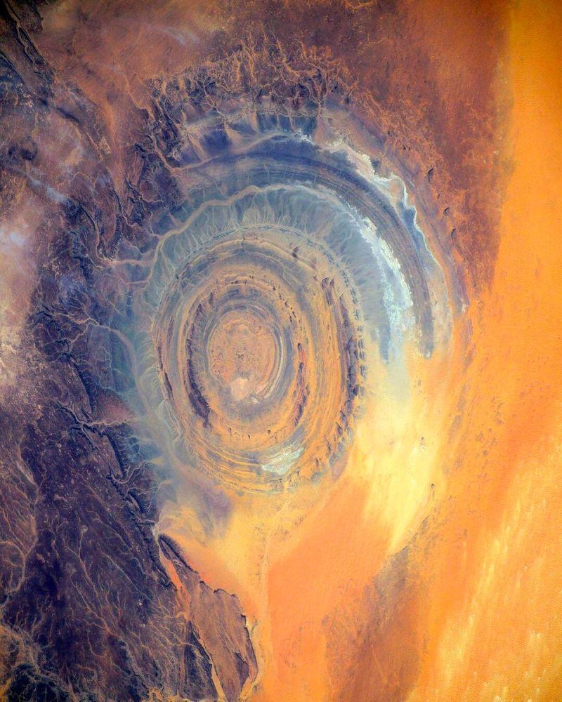 Вид на структуру Гальб-эль-Ришат с борта МКС