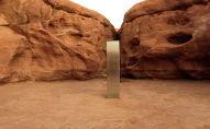 Металлический монолит в пустыне Ред-Рок, штат Юта. США, 25 ноября 2020 года