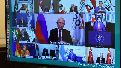 21 ноября 2020. Участники саммита Группы двадцати в режиме видеоконференции.