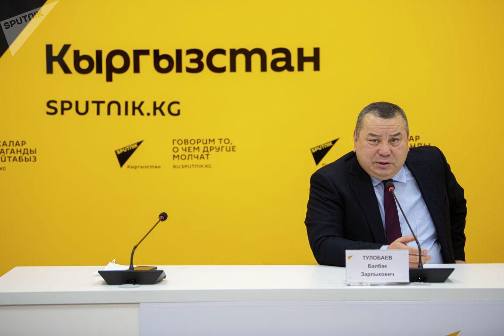 Тулобаев выступил в пресс-центре Sputnik Кыргызстан