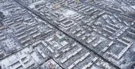 Вид с высоты на многоэтажные дома Бишкека. Архивное фото