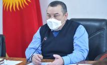 Исполняющий обязанности мэра Бишкека Балбак Тулобаев на заседании Бишкекского городского кенеша