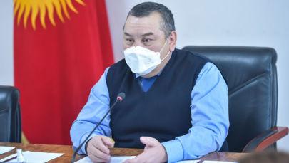 Мэрдин милдетин аткаруучу Балбак Түлөбаев. Архив