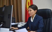 И.о. вице-премьера Кыргызстана Эльвира Сурабалдиева