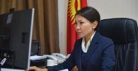 Вице-премьер-министр Кыргызской Республики Эльвира Сурабалдиева