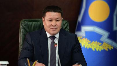 И.о. президента КР,  торага Жогорку Кенеша Талант Мамытов на сессии ОДКБ в формате видеоконференции