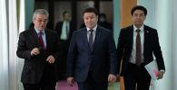 И.о. президента КР, торага Жогорку Кенеша Талант Мамытов после сессии Совета коллективной безопасности ОДКБ в формате видеоконференции, проходящей под председательством РФ. 02 декабря 2020 года