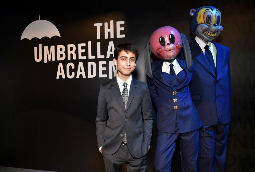 Эйдан Галлахер на премьере сериала Umbrella Academy