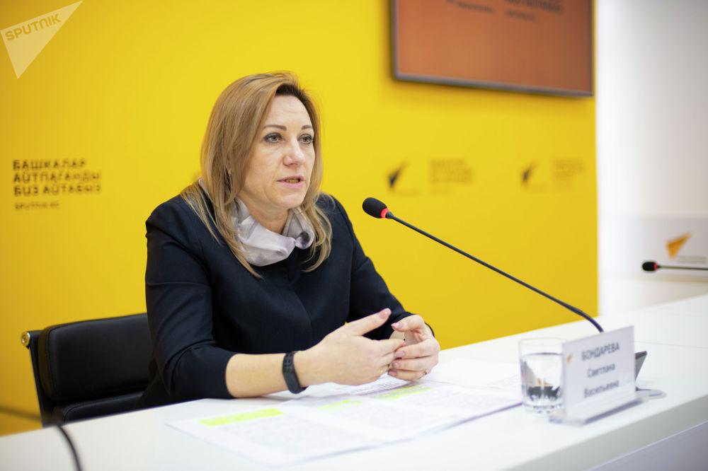 Она выступила в рамках брифинга в пресс-центре Sputnik Кыргызстан