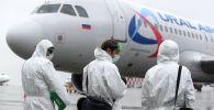 Самолет авиакомпании Уральские авиалинии. Архивное фото