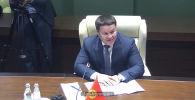 7 декабря в штаб-квартире Евразийской экономической комиссии состоялась встреча председателя Коллегии ЕЭК Михаила Мясниковича с и. о. президента Кыргызстана Талантом Мамытовым.