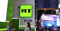 Cтенд телеканала RT (Russia Today). Архивное фото