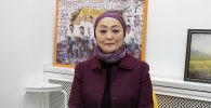 Начальник Центра лабораторных испытаний Госсанэпиднадзора Айгуль Жумаканова в офисе Sputnik Кыргызстан