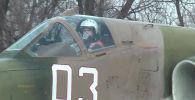Командный состав российской авиабазы Кант, расположенной на территории Кыргызстана, провел учебные полеты на штурмовиках Су-25.