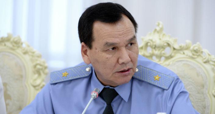 Министр внутренних дел Кашкар Джунушалиев на совещании по вопросам судебно-правовой реформы в стране. 2 июля 2019