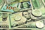 АКШ доллардын банкноталары жана монеталары. Архив