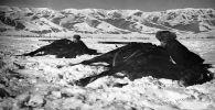 Солдаты конного клуба во время тренировки в Иссык-Кульской области. 1941 год. Фото Л. Вильчинского
