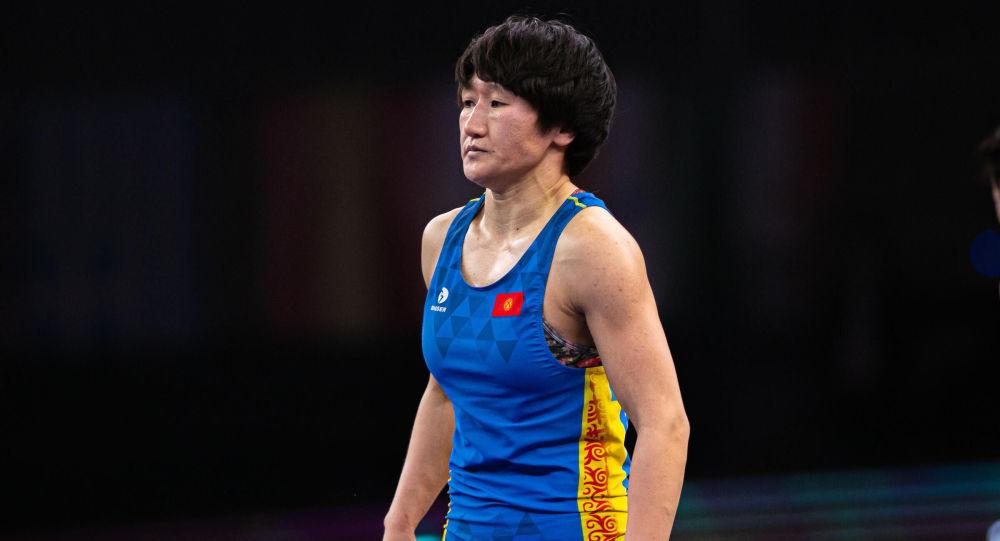 Чемпионка мира по женской борьбе Айсулуу Тыныбекова. Архивное фото