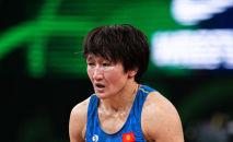 Серебряный призер Олимпийских игр в Токио-2020 Айсулуу Тыныбекова. Архив