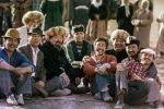 Кинорежиссер Геннадий Базаров и съемочная группа на съемках фильма Каныбек в Чуйской области. 1978-год