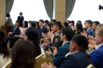 Лучшие студенты ВУЗов на вручении президентской стипендии. Архивное фото