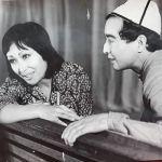 Театрдагы сахналаштар: актриса Жамиля Сыдыкбаева менен актёр Марат Алышпаев, 1977-жыл