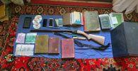 Найденные оружие и материалы у члена международной террористической организации в Баткене
