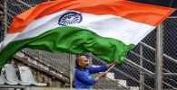 Индиянын желеги. Архивдик сүрөт