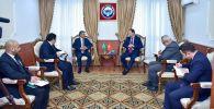 Тышкы иштер министри Руслан Казакбаев Сауд Аравия Падышалыгынын элчиси Абдурахман бин Саид Аль-Жуманы кабыл алды.