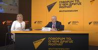 Видеомост Москва — Бишкек — Минск — Нур-Султан международного информационного агентства Sputnik