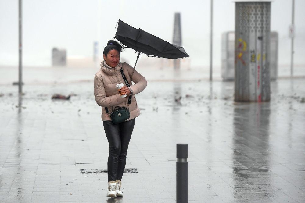 2020-жылдын 21-январында болгон Испаниянын чыгыш жээгиндеги катуу бороон