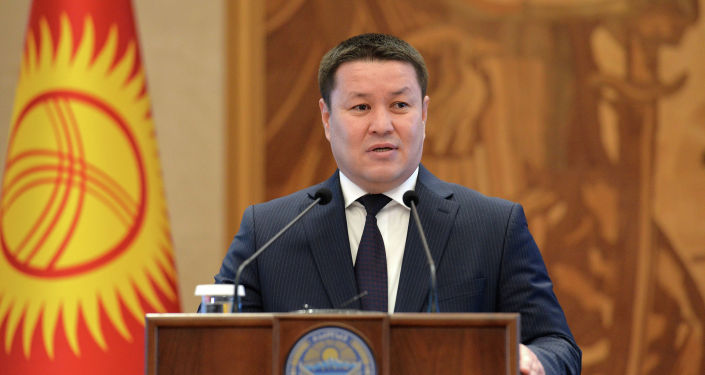 И.о. президента КР, торага Жогорку Кенеша Талант Мамытов. 25 декабря 2020 года