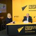 Видеомост Евразия перед вызовами 2021 года прошел в пресс-центре Sputnik Кыргызстан