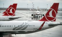 Стамбул аэропортундагы учактар. Архив